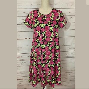 Lularoe XS Floral Hearts Jessie Dress